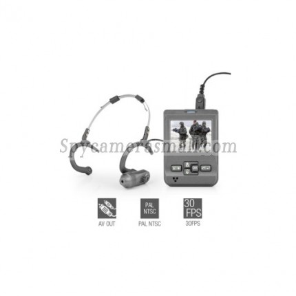 Spy Gear - Head Mounted Mini Video Recorder with 2.5 Inch LCD Screen