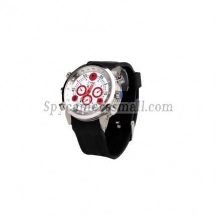 hidden Spy Watch Cameras - Waterproof Sports Watch with MP3 Player + Digital Video Recorder (8GB)