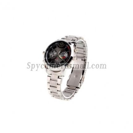 Spy Watch Cam - HD Waterproof All Metal Sport Watch with Motion Detector + Digital Video Recorder (4GB)