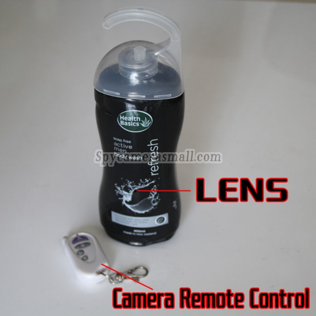 Men S Shower Gel Hd Bathroom Spy Camera 720p Dvr 16gb