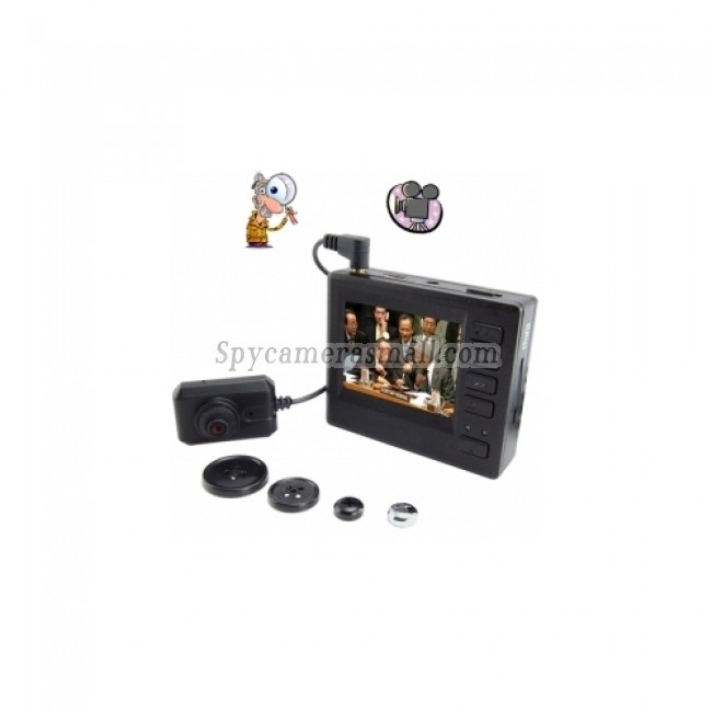 hidden Spy Button Cam DVR - High Definition Mini Pinhole Spy Camcorder Pocket DVR