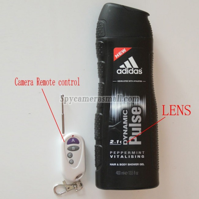 Spy Camera Shower gel 720P for Men's Motion Detection include the real shower gel container