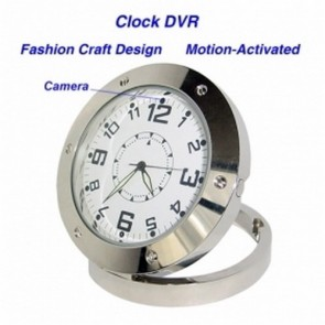 640*480 Clock Style Digital Video Recorder DVR Motion-Activated Hidden Pinhole Color Camera