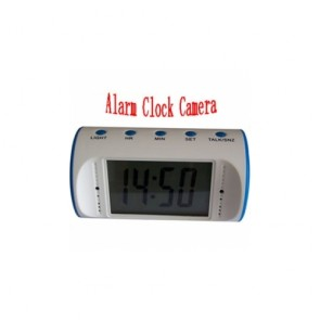 Spy Clock Cameras recoder - 1280*960 Alarm white Clock Camera with Remote Controller Spy Clock Camcorder with PC Camera(8GB)