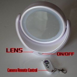 LED Lighted Double Sided Mirror Hidden Bedroom Spy HD Camera DVR 8GB 1280x720